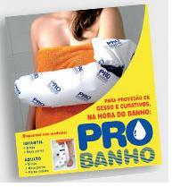PROTEÇÃO DE GESSO E CURATIVOS NA HORA DO BANHO PARA O BRAÇO